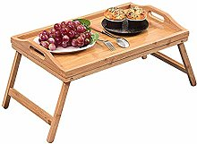 YORKING Bed Tray Table Bamboo Wooden Breakfast