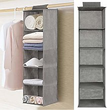 YORKING Hanging Storage 5-Shelf Organiser, Hanging