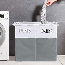 YORKING Large Light Dark 2 Section Folding Laundry