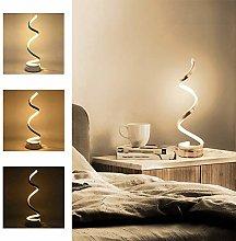 Yorking Modern LED Bedside Spiral Table Lamps