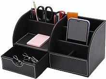 YORKING PU Leather Multifunctional Desk Storage