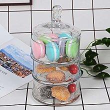 YORKING Storage Jars Glass Food Jar with Lids,