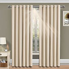 Yorkshire Bedding Blackout Curtains Ring Top 66 x