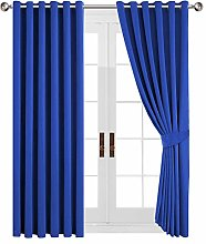 Yorkshire Bedding Blue Blackout Curtain Ring Top