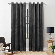 Yorkshire Bedding Grey Blackout Curtain 90 x 90