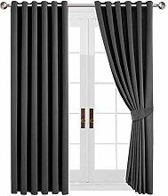 Yorkshire Bedding Grey Blackout Curtain Bedroom