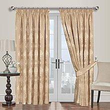 Yorkshire Bedding Luxury Jacquard Gold Curtains