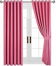 Yorkshire Bedding Pink Blackout Curtain 90 x 108