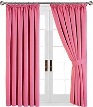Yorkshire Bedding Pink Blackout Curtains Pencil