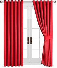 Yorkshire Bedding Red Blackout Curtain Ring Top