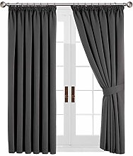 Yorkshire Bedding Thermal Blackout Pleated Grey