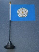 Yorkshire County Desk Table Top Flag