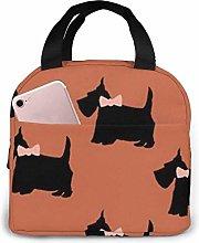Yorkshire, Dog, Orange Insulated Lunch Bag Cooler