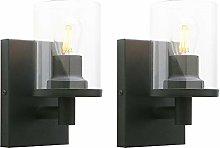 Yosoan Lighting Pack of 2 Modern Glass Wall Lights