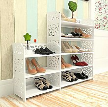 Yosoo 4-Tier Freestanding Shoe Rack, White Home