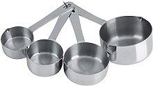 Yosoo 4Pcs Measuring cups set Stainless Steel