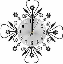 Yosoo Crystal Metal Wall Clock, Diamond Decorative