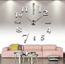 Yosoo Giant Wall Clock DIY Acrylic 3D Mirror
