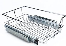 Yosoo Pull Out Chrome Wire Storage Basket Drawer