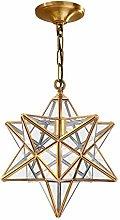 YOTEFE Postmodern Simplicity Moravian Star Clear