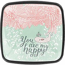 You are My Happy [4 PCS]Decorative Cabinet
