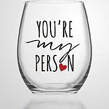 You're My Person Crystal Stemless Wine