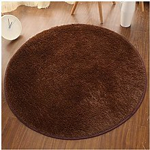 YOUCAI Round Shaggy Area Rugs Short/Long Faux Fur