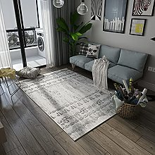 YOUHU Area Rug,Modern Nordic Gray White Abstract