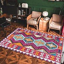 YOUHU Bedroom Rug,Vintage Distressed Moroccan