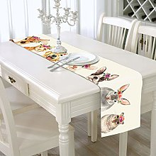 YOUHU Coffee Table Table Runner,Modern Animals