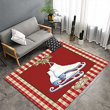 YOUHU Living Room Non Slip Area Rugs,Christmas