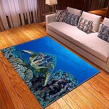 YOUHU Living Room Non Slip Area Rugs,Marine Life