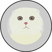 YOUHU Round Living Room Area Rugs,Fat Cat Ultra