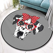 YOUHU Round Living Room Area Rugs,Lovely Animals