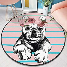YOUHU Round Living Room Area Rugs,Trendy Animals