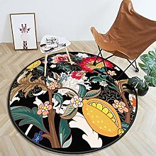 YOUHU Round Living Room Area Rugs,Vintage