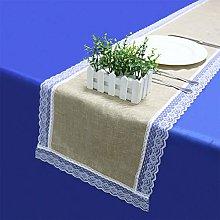 YOUHU Table Runner,Home Decoration Khaki Linen
