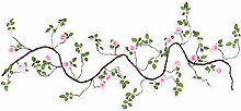 Youmine Artificial Fake Flowers String Silk Roses