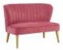Youngsters Sofa Pink Velvet