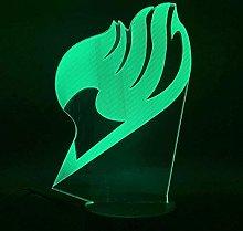YOUPING 3D Illusion Lamp Led Night Light Fairy