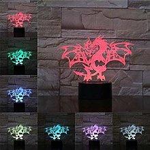 YOUPING 3D Lamp Illusion Night Light LED Bulb USB