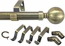 Your Home Online 3 & 5 Side Antique Brass 28mm Bay