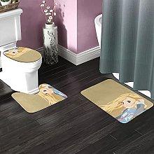 Your Lie April Bathroom Rugs Set Non-Slip Water