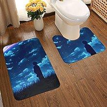 Your Name Soft Flannel Floor Mats Carpets Non-slip
