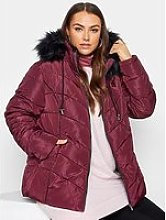 Yours Yours Panelled Padded Jacket - Red