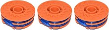 YOURSPARES 3 x Spool & Line For Qualcast GGT4401,