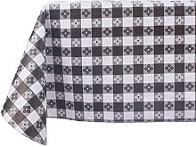 Yourtablecloth Checkered Vinyl Tablecloth with