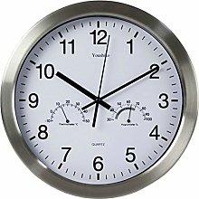 Youshiko Large Bold Quartz Metal Wall Clock with