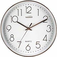 Youshiko Large Bold Quartz Rose Gold Wall Clock,