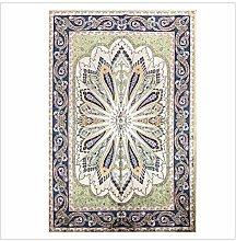 Yousiju 6'x9' Silk Carpet Handmade Turkish